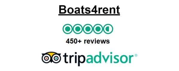 Boot mieten in Amsterdam bei Boats4rent Bootsverleih wird sehr gut bis ausgezeichnet bewertet auf Tripadvisor 2019