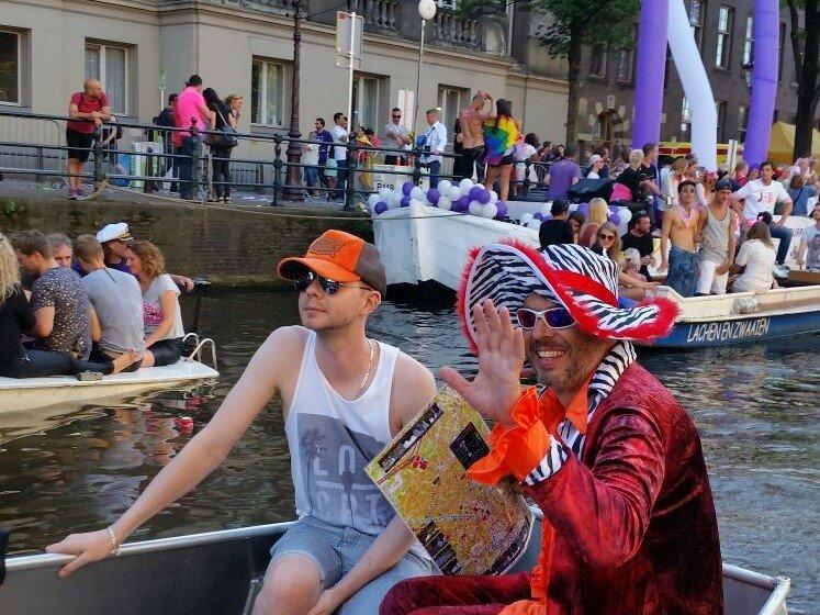 Boot mieten Gay Pride Kanal Parade Amsterdam