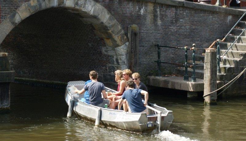 Elektroboot fahren Amsterdam